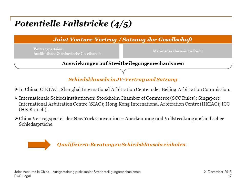 Potentielle Fallstricke (4/5)