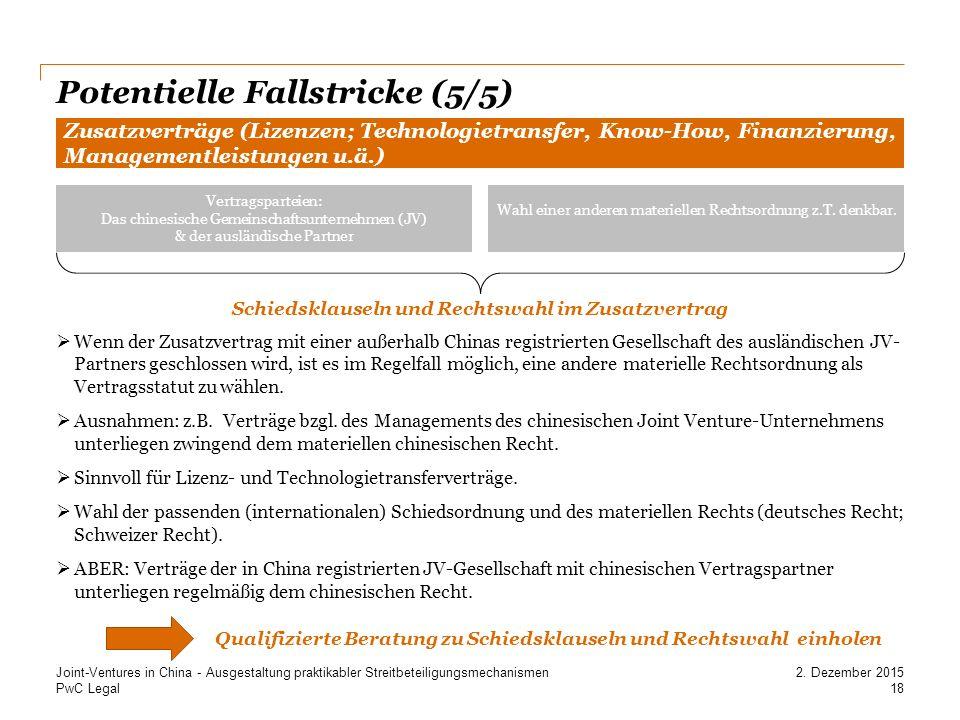 Potentielle Fallstricke (5/5)