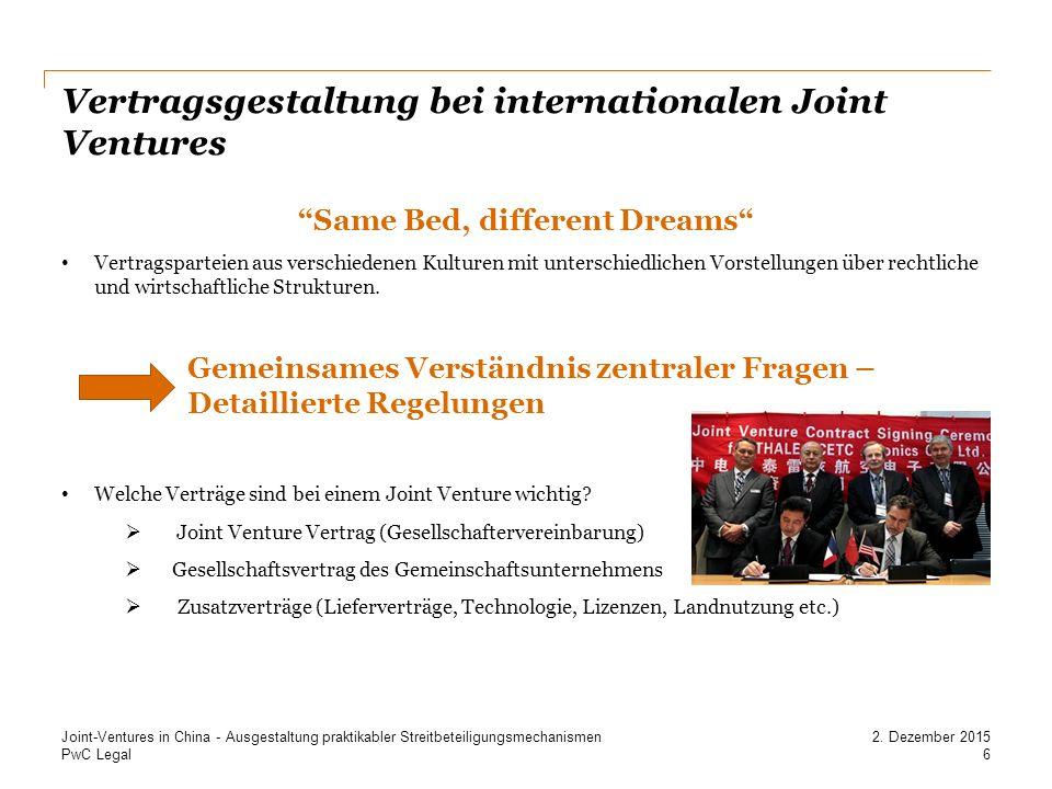 Vertragsgestaltung bei internationalen Joint Ventures
