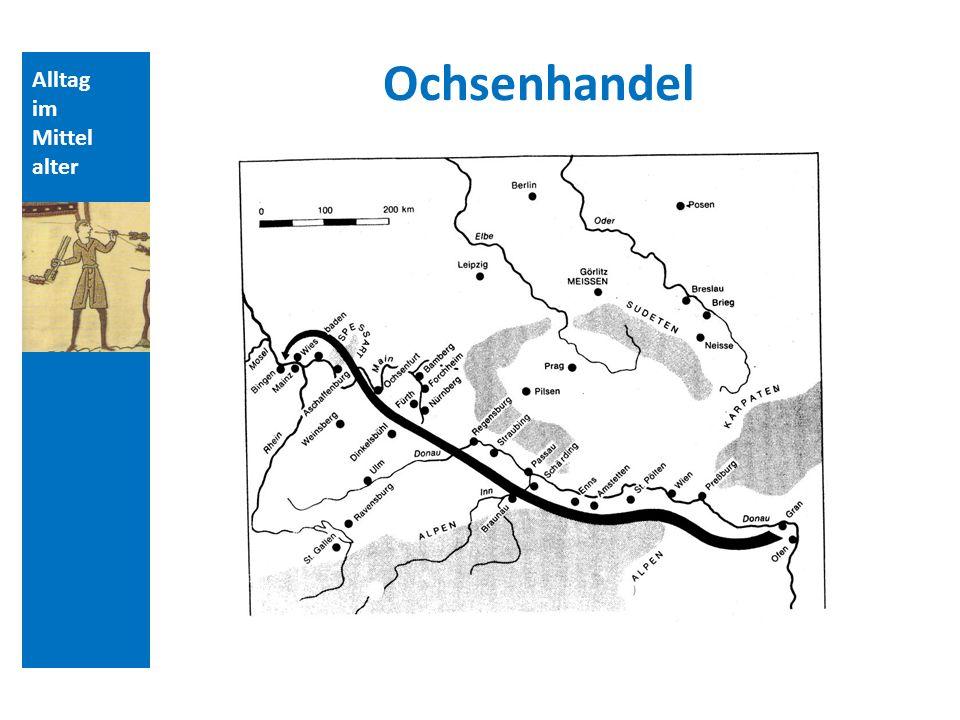 Quellen und Literatur Ochsenhandel Alltag im Mittelalter