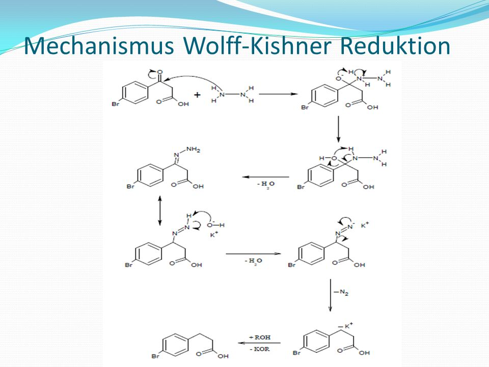 Mechanismus Wolff-Kishner Reduktion