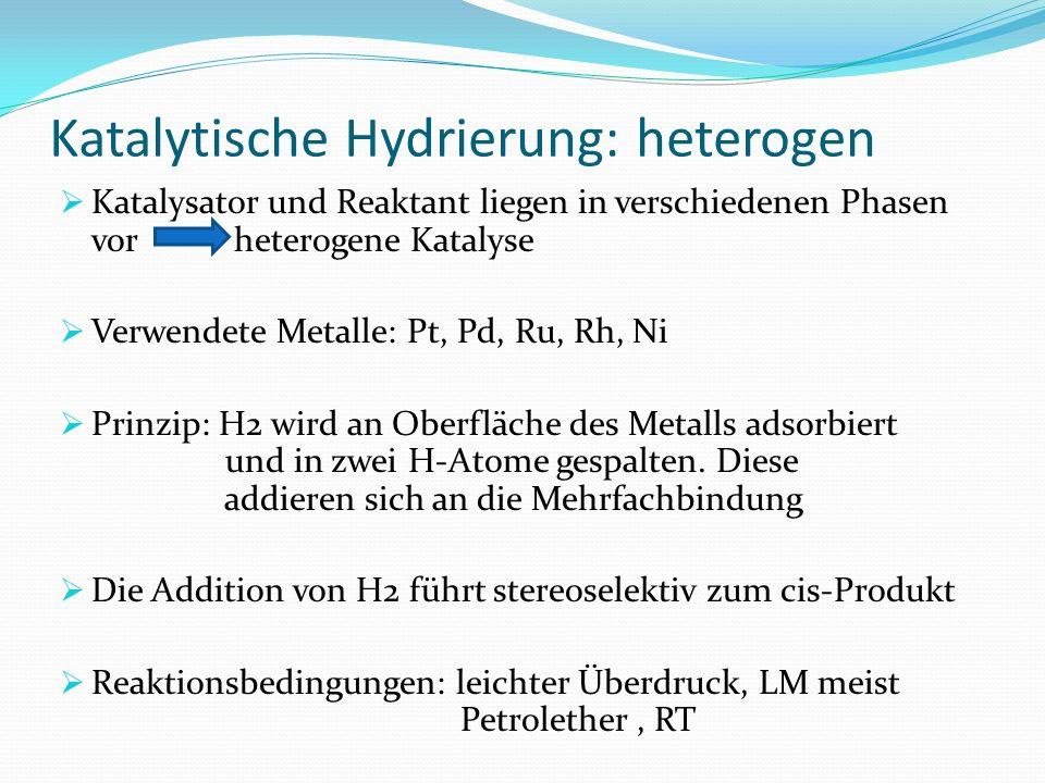 Katalytische Hydrierung: heterogen
