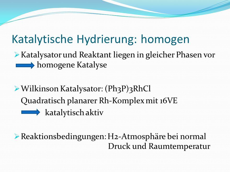 Katalytische Hydrierung: homogen
