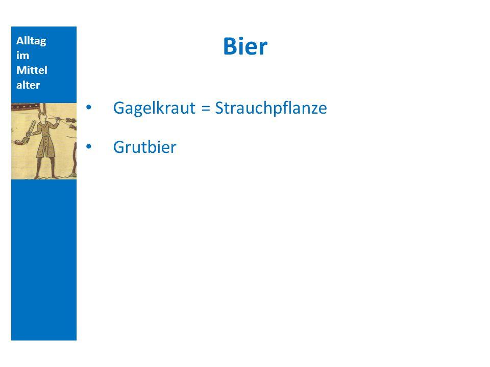 Bier Gagelkraut = Strauchpflanze Grutbier Alltag im Mittelalter
