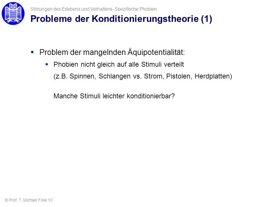 Probleme der Konditionierungstheorie (1)