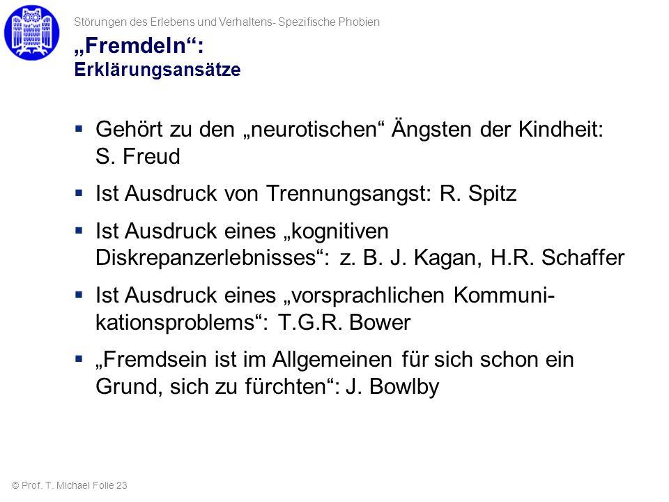 """""""Fremdeln : Erklärungsansätze"""
