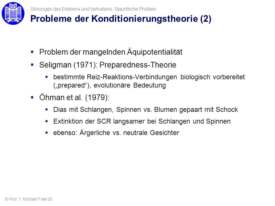 Probleme der Konditionierungstheorie (2)