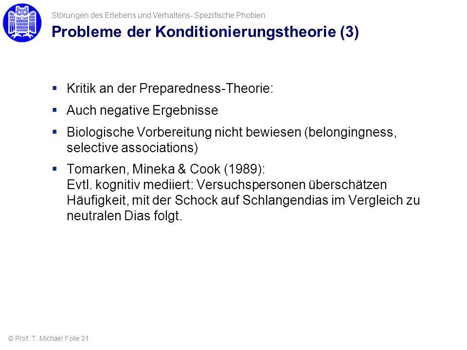Probleme der Konditionierungstheorie (3)
