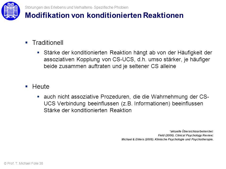 Modifikation von konditionierten Reaktionen