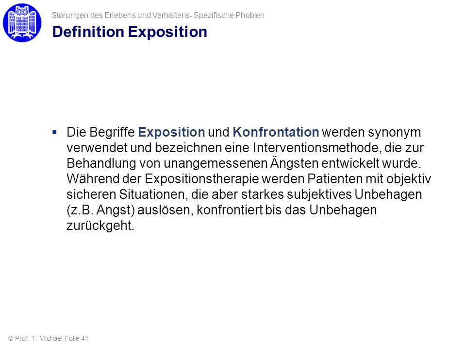 Definition Exposition