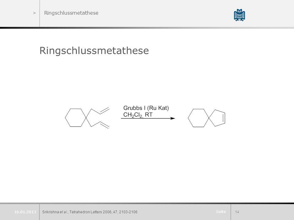 Ringschlussmetathese