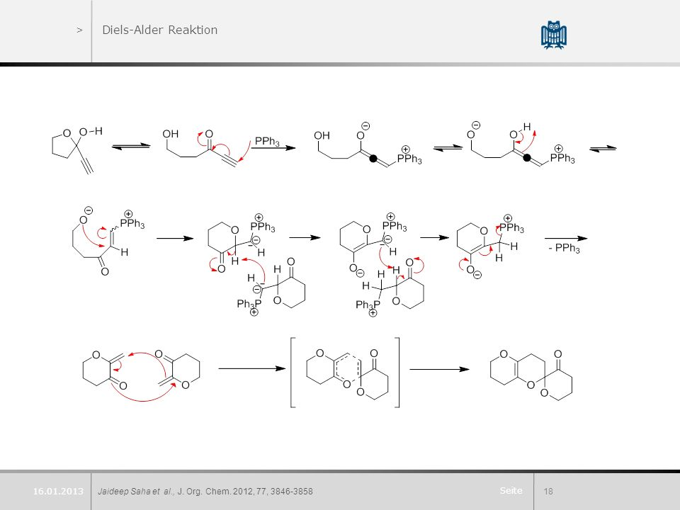 Diels-Alder Reaktion 16.01.2013 Jaideep Saha et al., J. Org. Chem. 2012, 77, 3846-3858