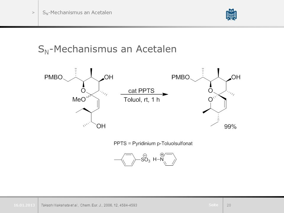 SN-Mechanismus an Acetalen