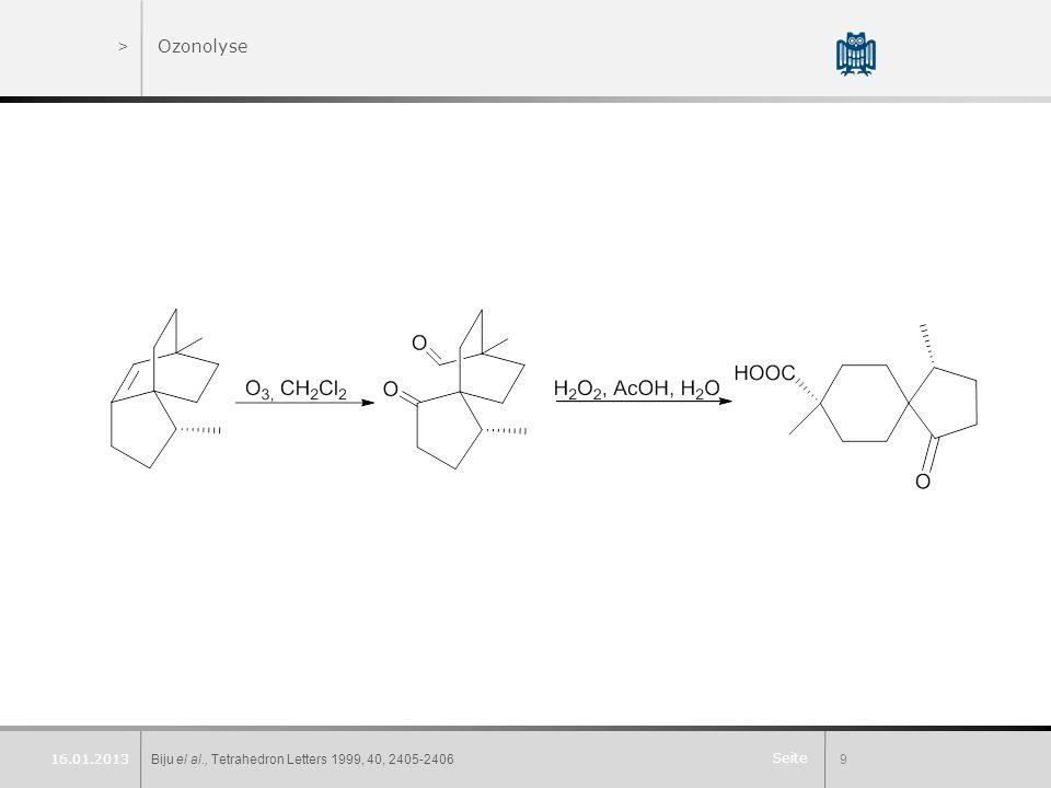 Ozonolyse 16.01.2013 Biju el al., Tetrahedron Letters 1999, 40, 2405-2406