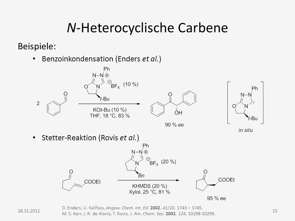 N-Heterocyclische Carbene
