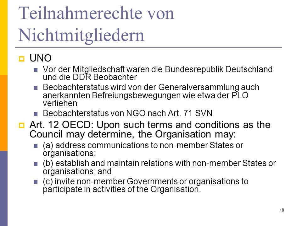 Teilnahmerechte von Nichtmitgliedern