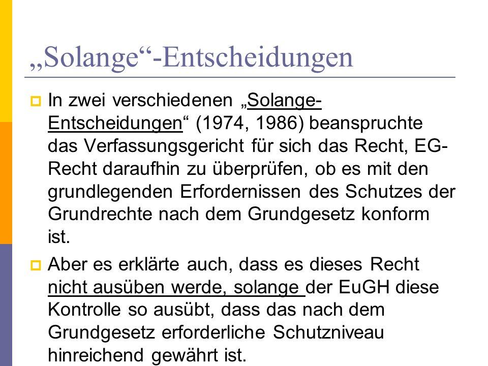 """""""Solange -Entscheidungen"""