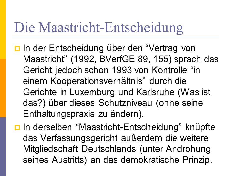 Die Maastricht-Entscheidung