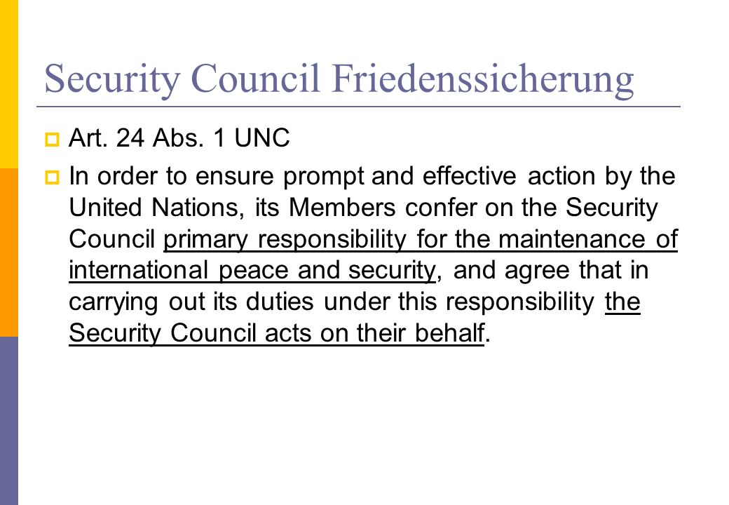Security Council Friedenssicherung