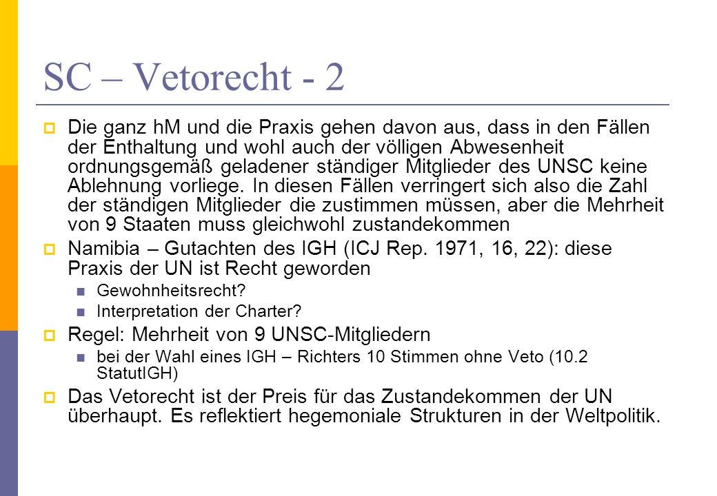 SC – Vetorecht - 2