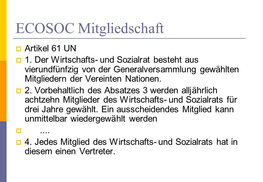 ECOSOC Mitgliedschaft