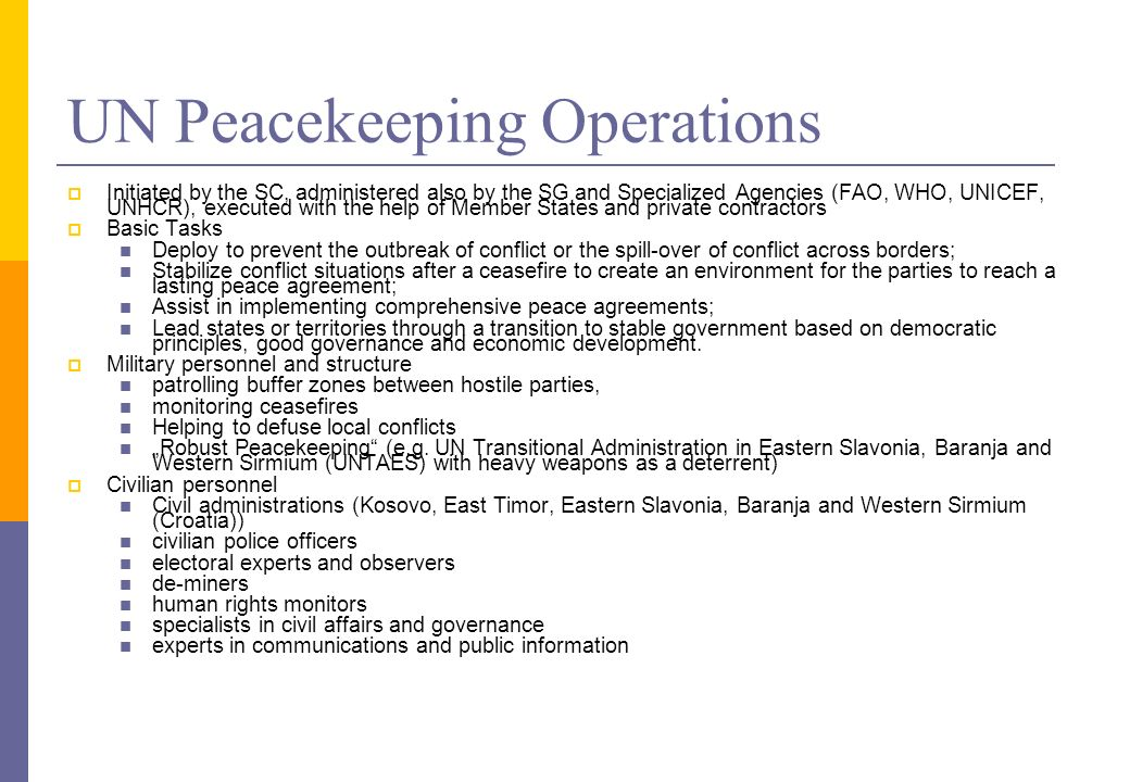 Un peacekeeping operations essay writing