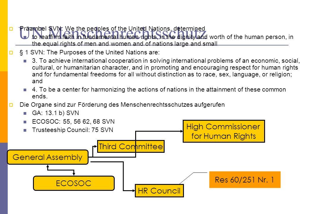 UN Menschenrechtsschutz