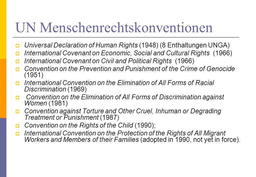 UN Menschenrechtskonventionen