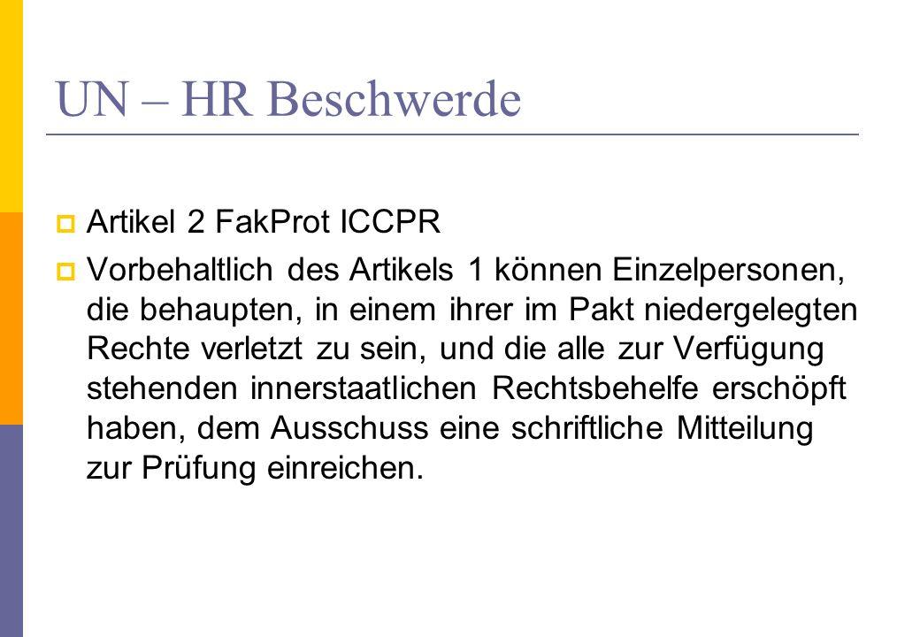 UN – HR Beschwerde Artikel 2 FakProt ICCPR