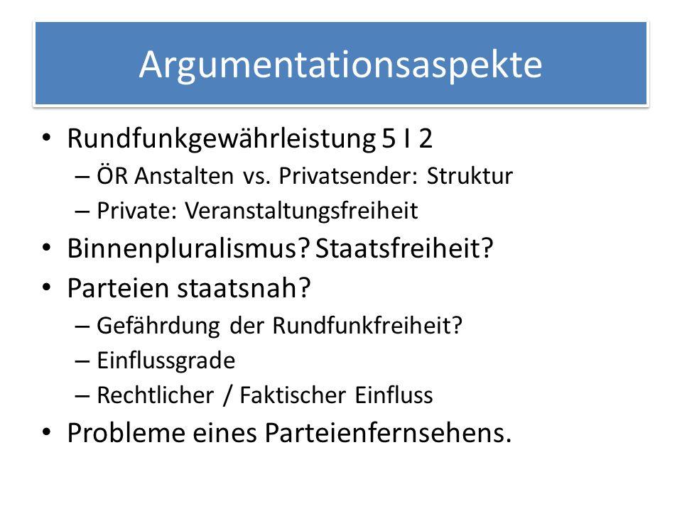 Argumentationsaspekte