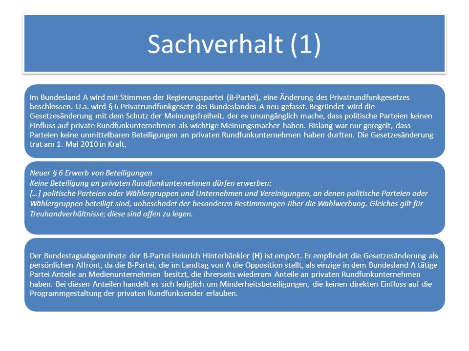 Sachverhalt (1)