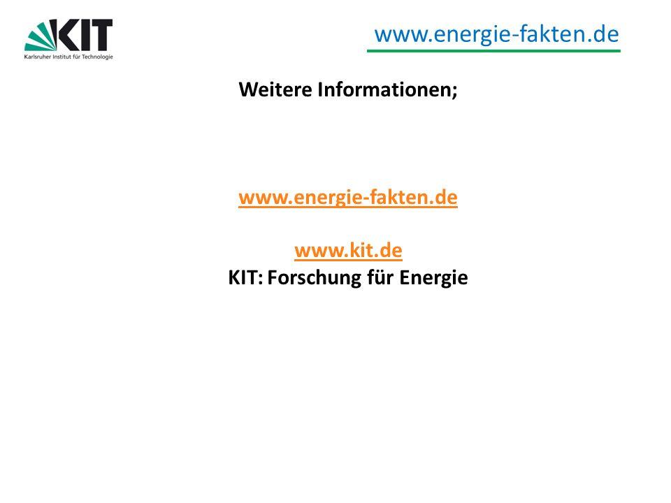 Weitere Informationen; KIT: Forschung für Energie