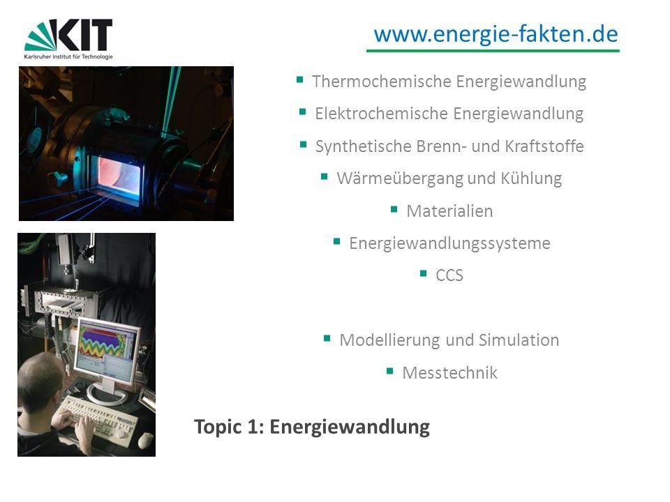 Topic 1: Energiewandlung