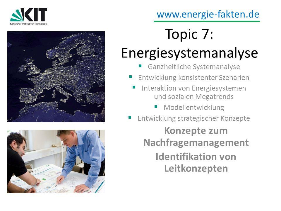 Topic 7: Energiesystemanalyse