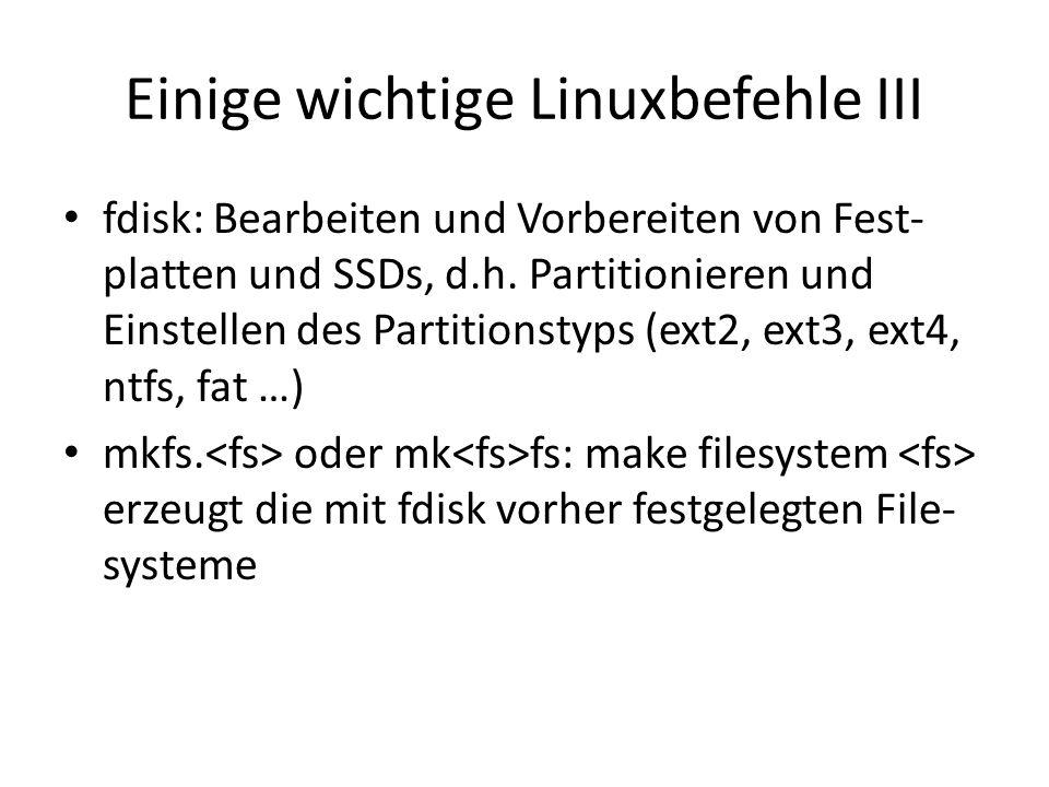 Einige wichtige Linuxbefehle III
