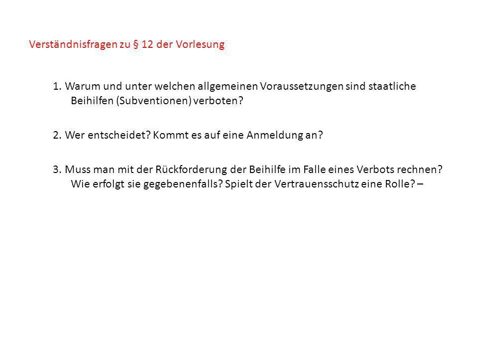 Verständnisfragen zu § 12 der Vorlesung