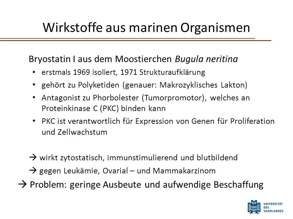 Wirkstoffe aus marinen Organismen