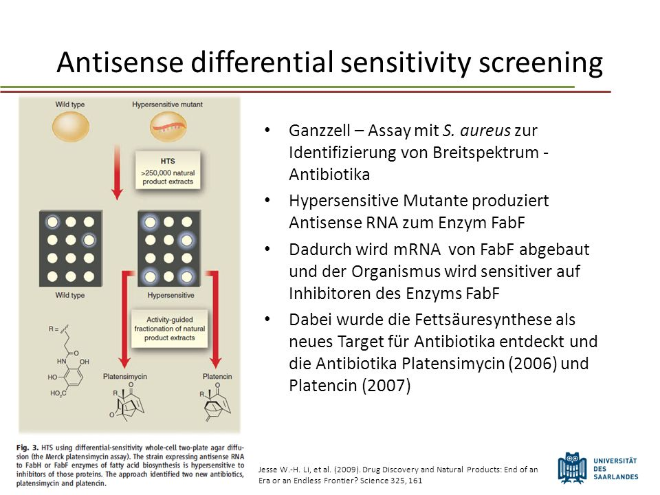 Antisense differential sensitivity screening