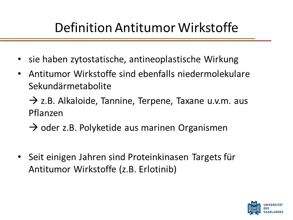 Definition Antitumor Wirkstoffe