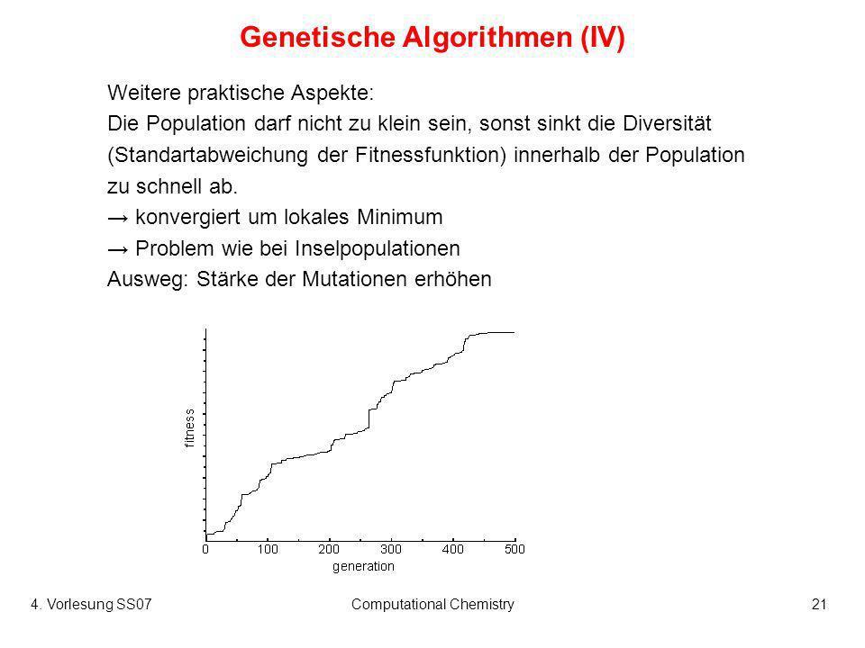 Genetische Algorithmen (IV)