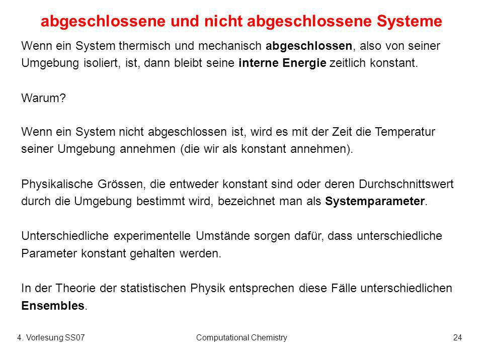 abgeschlossene und nicht abgeschlossene Systeme