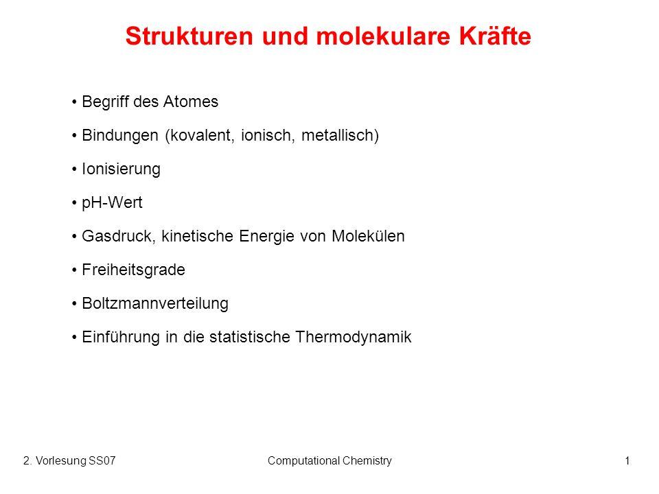 Strukturen und molekulare Kräfte