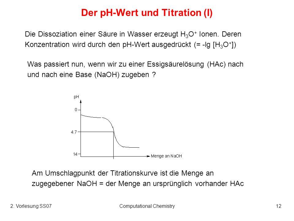 Der pH-Wert und Titration (I)