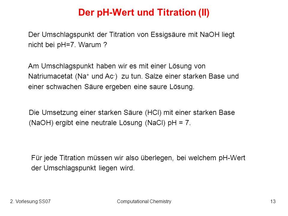 Der pH-Wert und Titration (II)