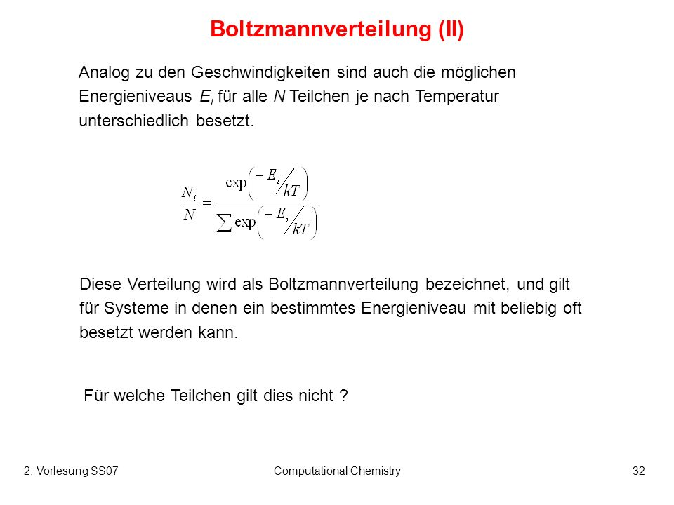 Boltzmannverteilung (II)