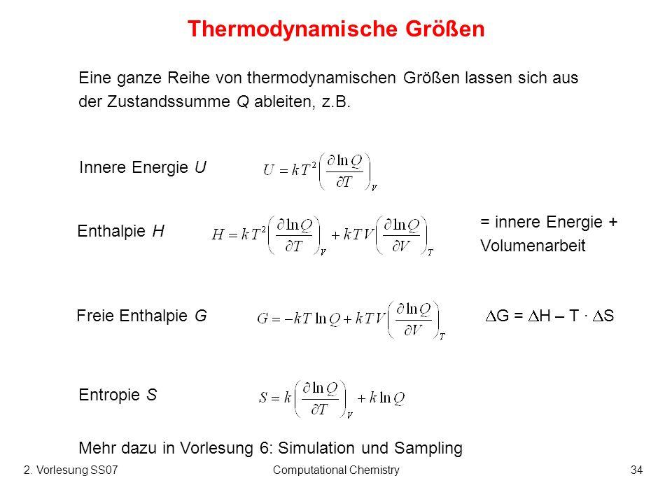 Thermodynamische Größen