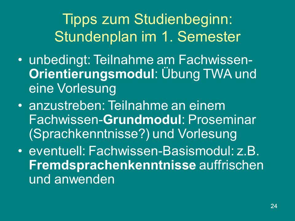 Tipps zum Studienbeginn: Stundenplan im 1. Semester