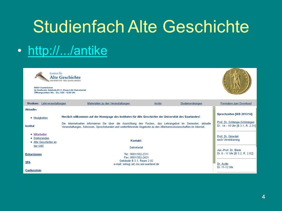Studienfach Alte Geschichte