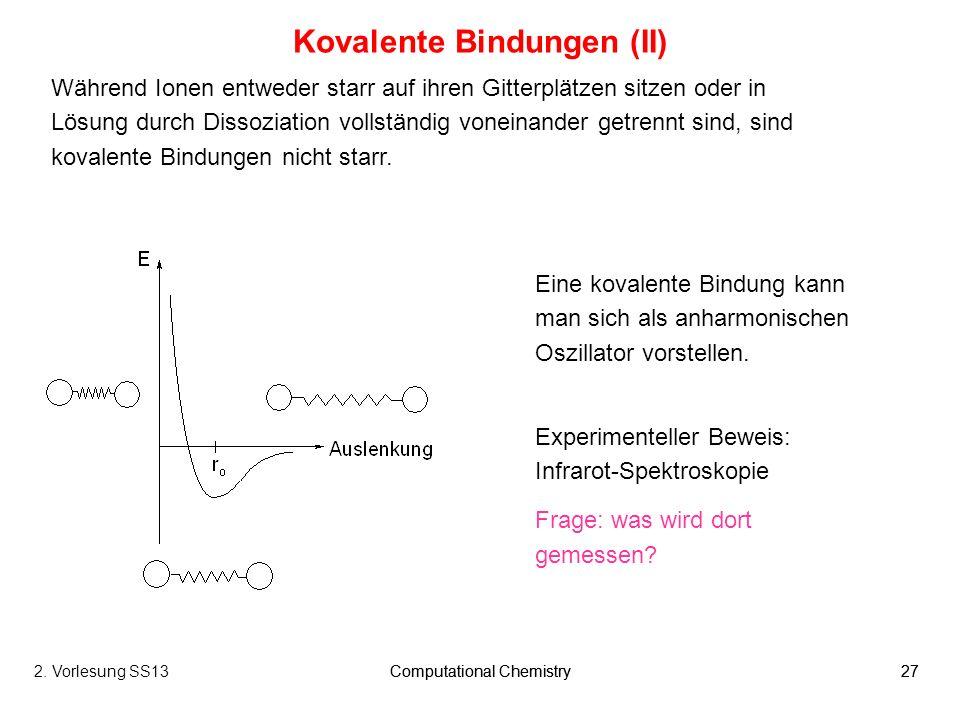 Kovalente Bindungen (II)
