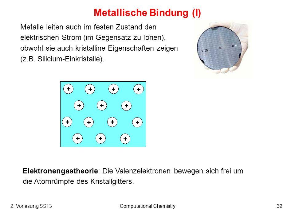 Metallische Bindung (I)